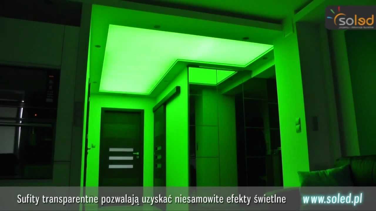 Podświetlenie sufitu - Taśma LED RGB z pilotem dotykowym. Sufity Napinane.