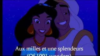 Repeat youtube video Aladdin - A Whole New World - French + Translation (Ce rêve bleu)