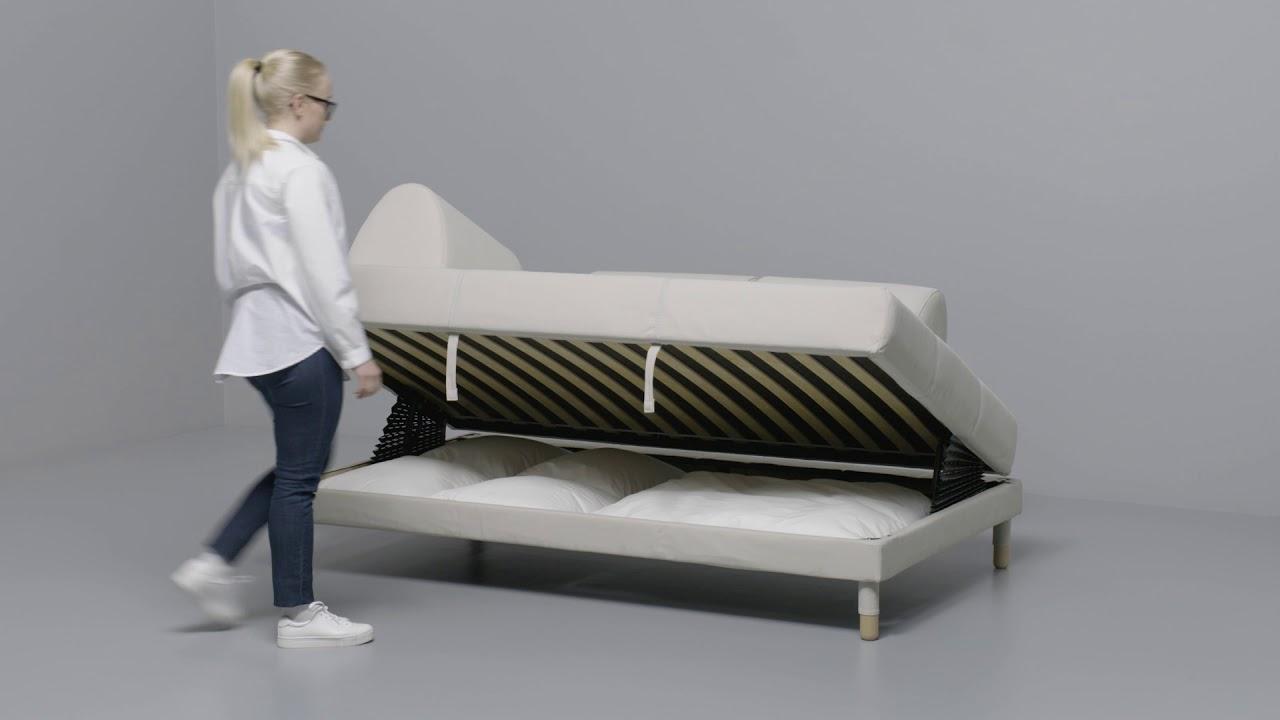 IKEA - FLOTTEBO 120: Anleitung vom Sofa zum Bett - YouTube
