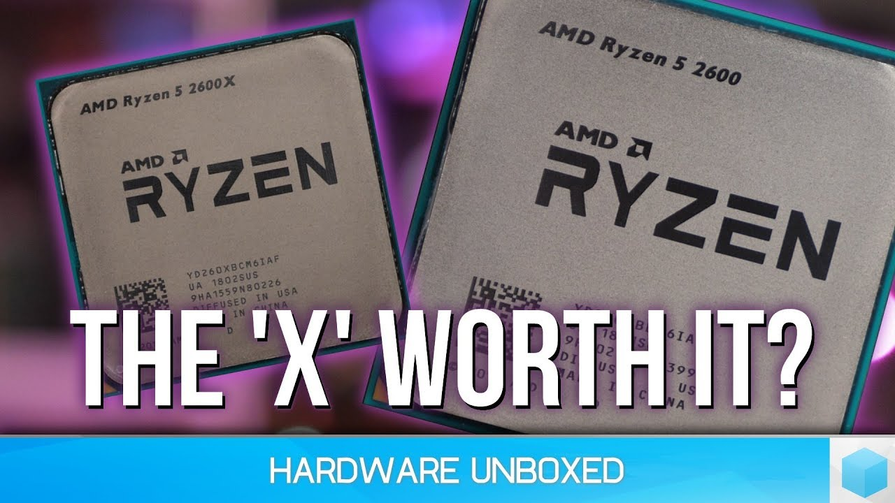AMD Ryzen 5 2600 vs  2600X - Is the X worth it?