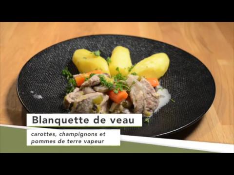 blanquette-de-veau,-carottes,-champignons-et-pommes-de-terre-vapeur