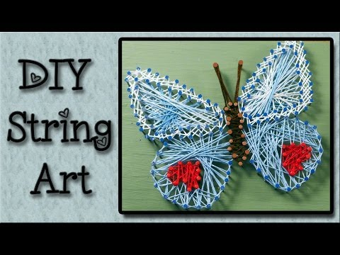 String Art Tutorial - An Easy Art Project For Kids