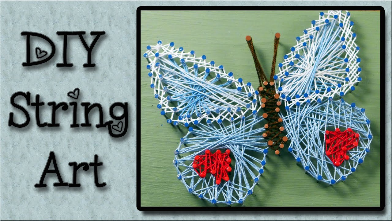 Tv In Middle Of Room String Art Tutorial An Easy Art Project For Kids Youtube