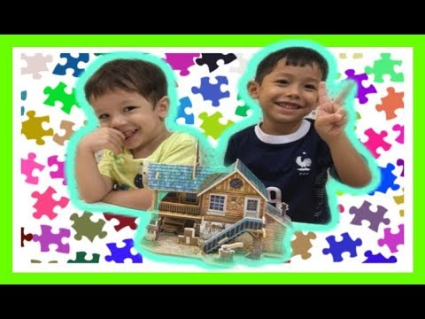 3D WOODEN PUZZLE HOUSE ||EDUCATIONAL VIDEO FOR KIDS||