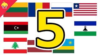 ピタゴラ国旗5【世界の国旗】