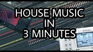 Скачать MAKE HOUSE MUSIC IN 3 MINUTES FL STUDIO
