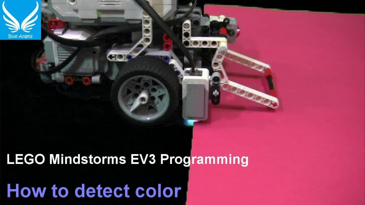 EV3 Programming 1 3: How to detect color (Using Color Sensor)