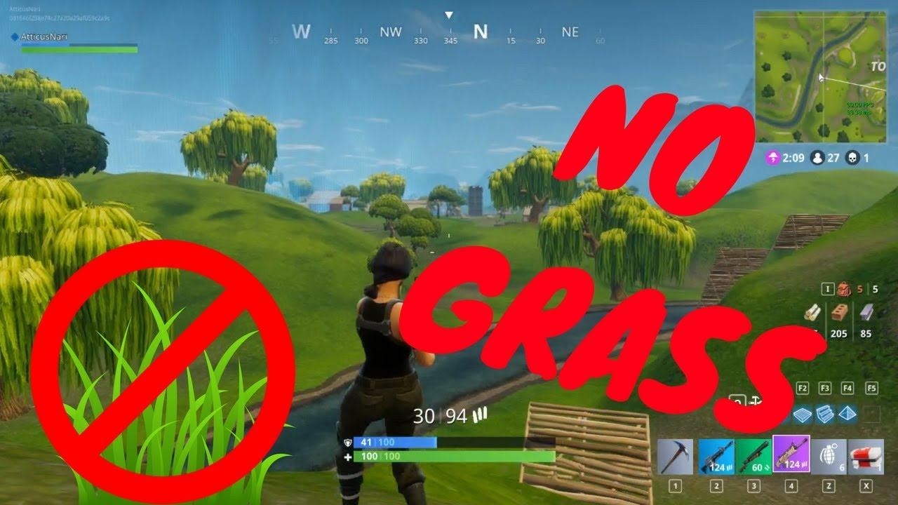 How to fully disable grass in Fortnite! (PATCHED