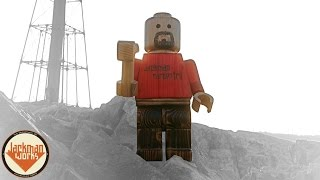Giant Wood Lego Man (from A 2x4) -- 2015 2x4 Competition Entry - Jackman Carpentry