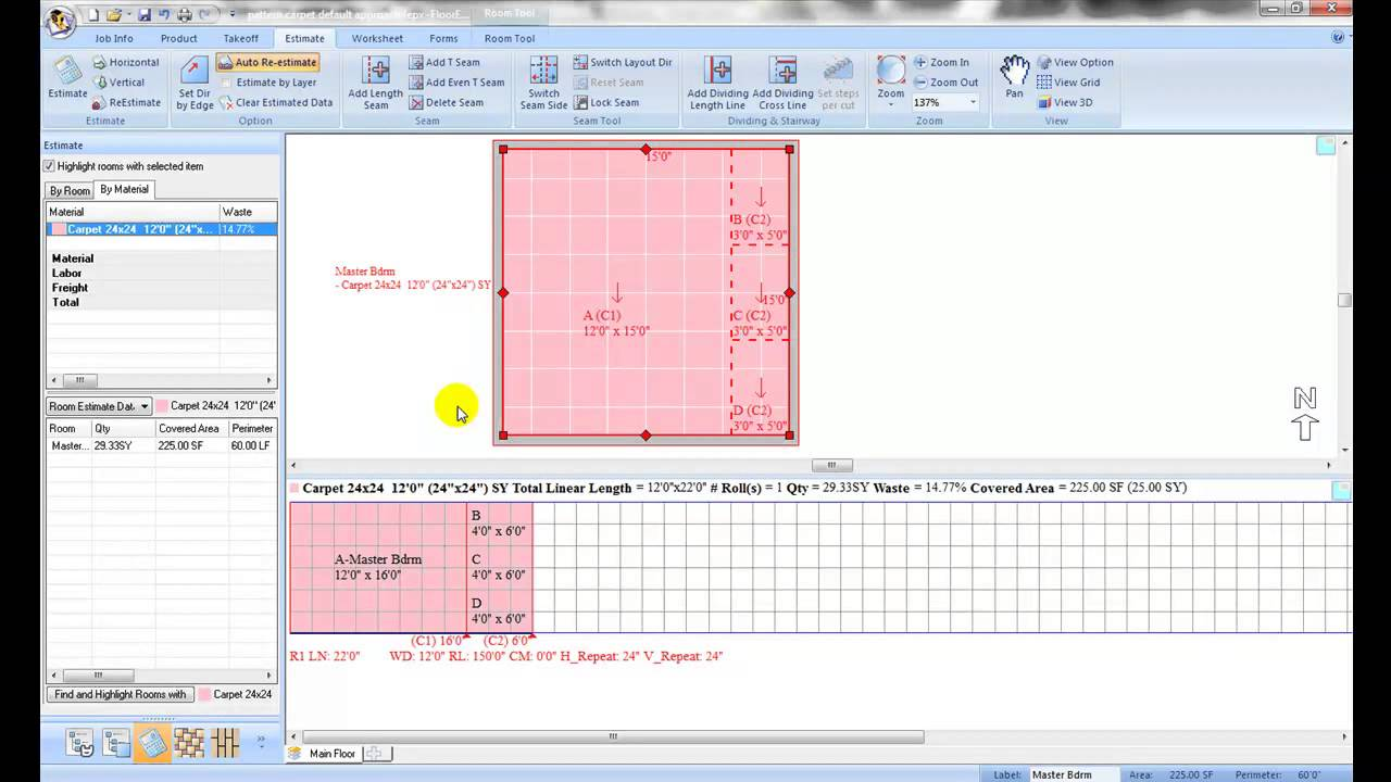 delightful carpet layout software #5: Floor Estimate Pro ( FEP ) - Pattern carpet cut layout - YouTube