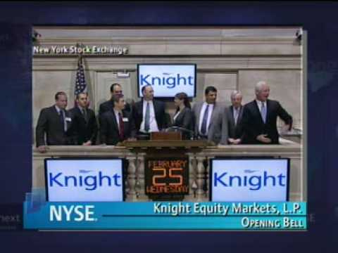 Knight Equity Markets rings the Opening Bell