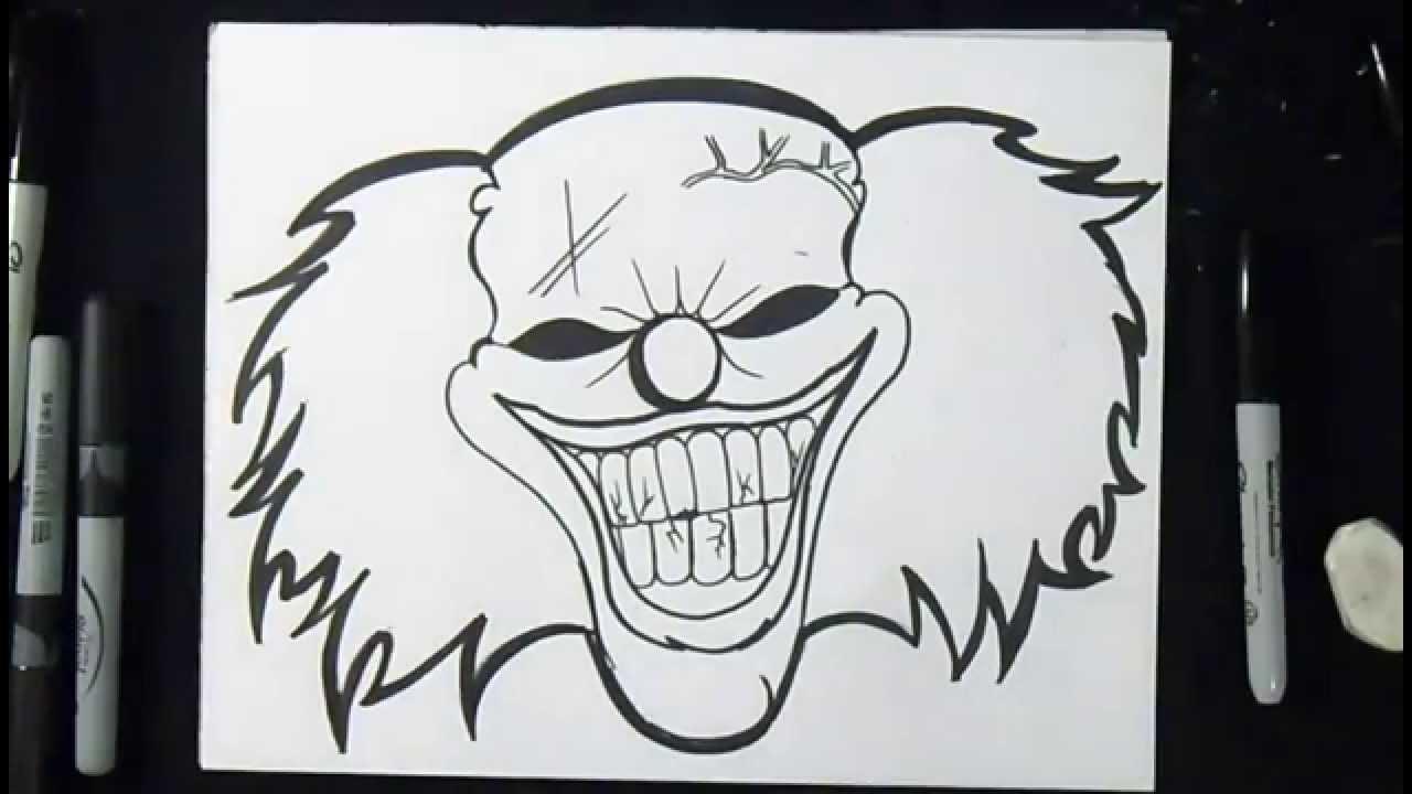 Wie Zeichnet Man Clown Graffiti Youtube