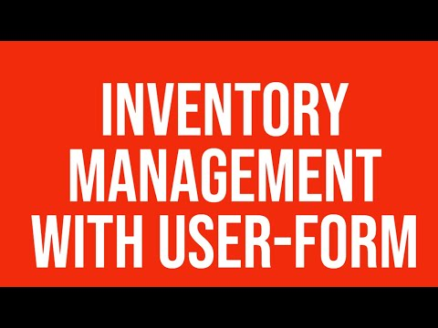 Inventory management user-form Excel - YouTube