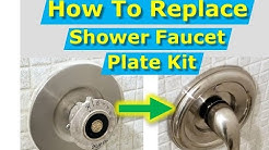 DIY How to Replace Shower Faucet Trim Plate and Handle [Moen]