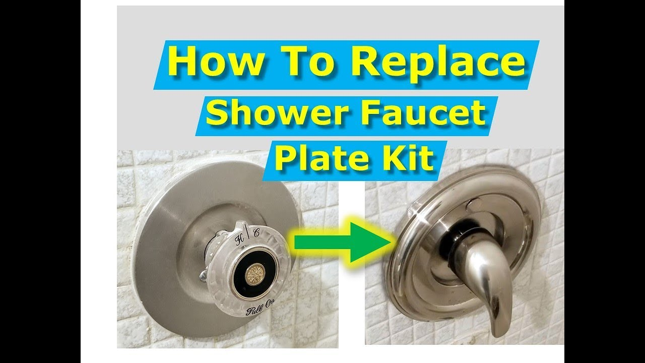 DIY How to Replace Shower Faucet Trim Plate and Handle [Moen