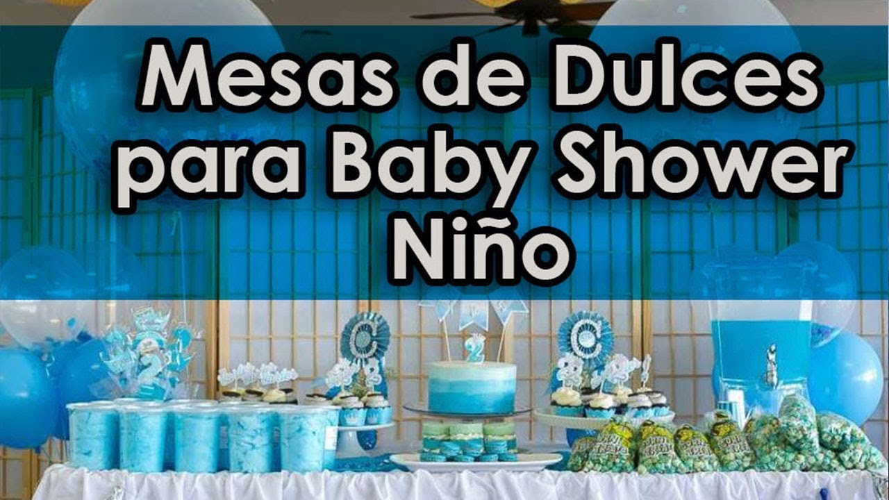 Mesa de dulces baby shower ni o youtube for Mesa de dulces para baby shower nino