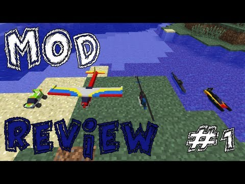 Minecraft Mod   001  The RC Mod Plane, Helicopter, Car, Boat