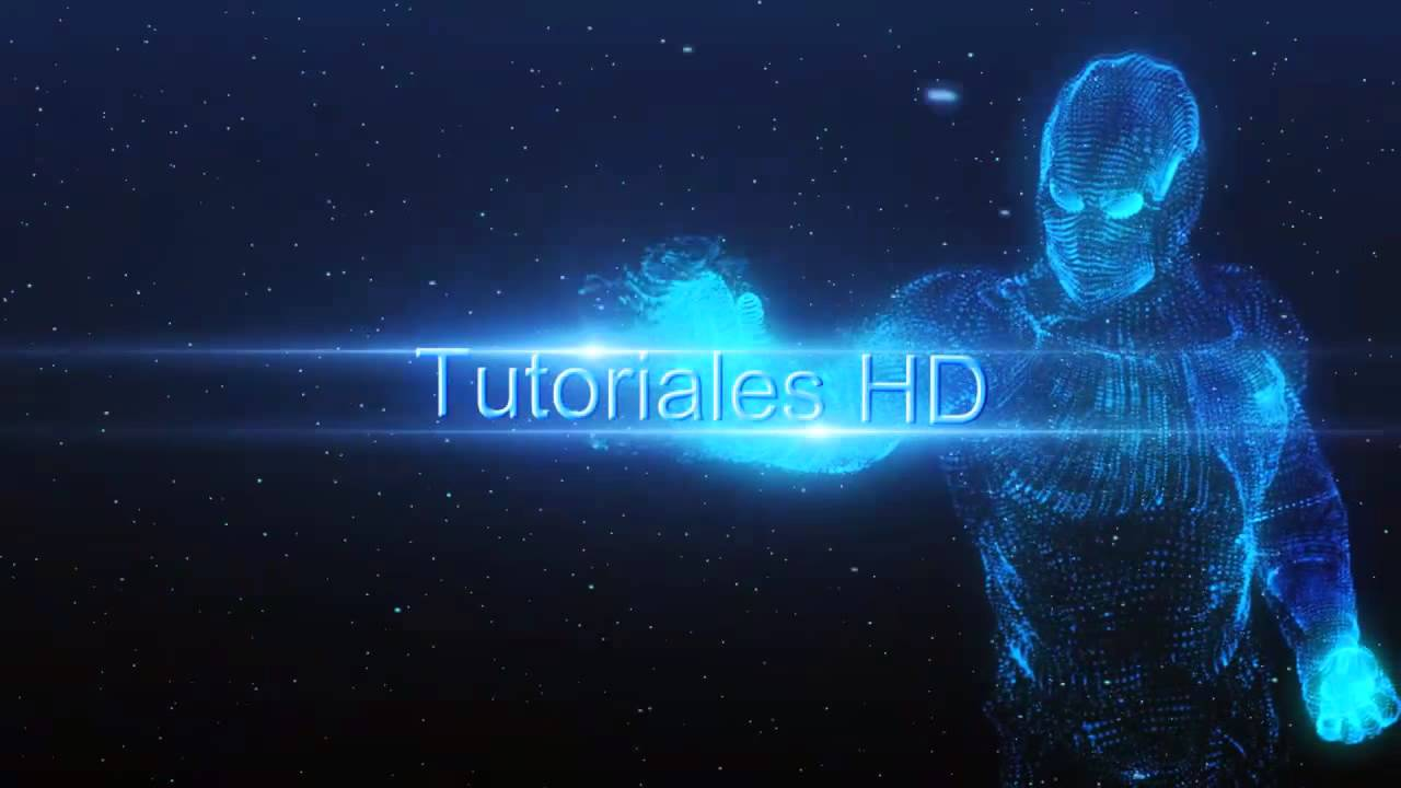 Intro Iron Man Holograma Plantilla Editable After Effects HD - Editable after effects templates