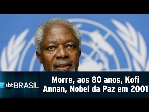 Morre, aos 80 anos, Kofi Annan, vencedor do Nobel da Paz em 2001 | SBT Brasil (18/08/18)