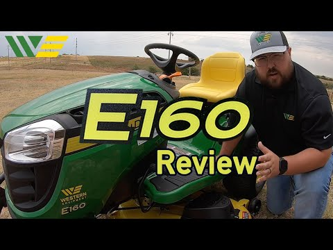 2020 John Deere E160 Riding Lawn Tractor Mower Review And Walkaround