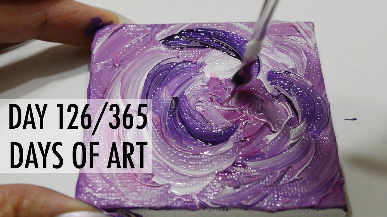 Day 126365 Days Of Art Acrylic Flower Painting Erica Joaquin