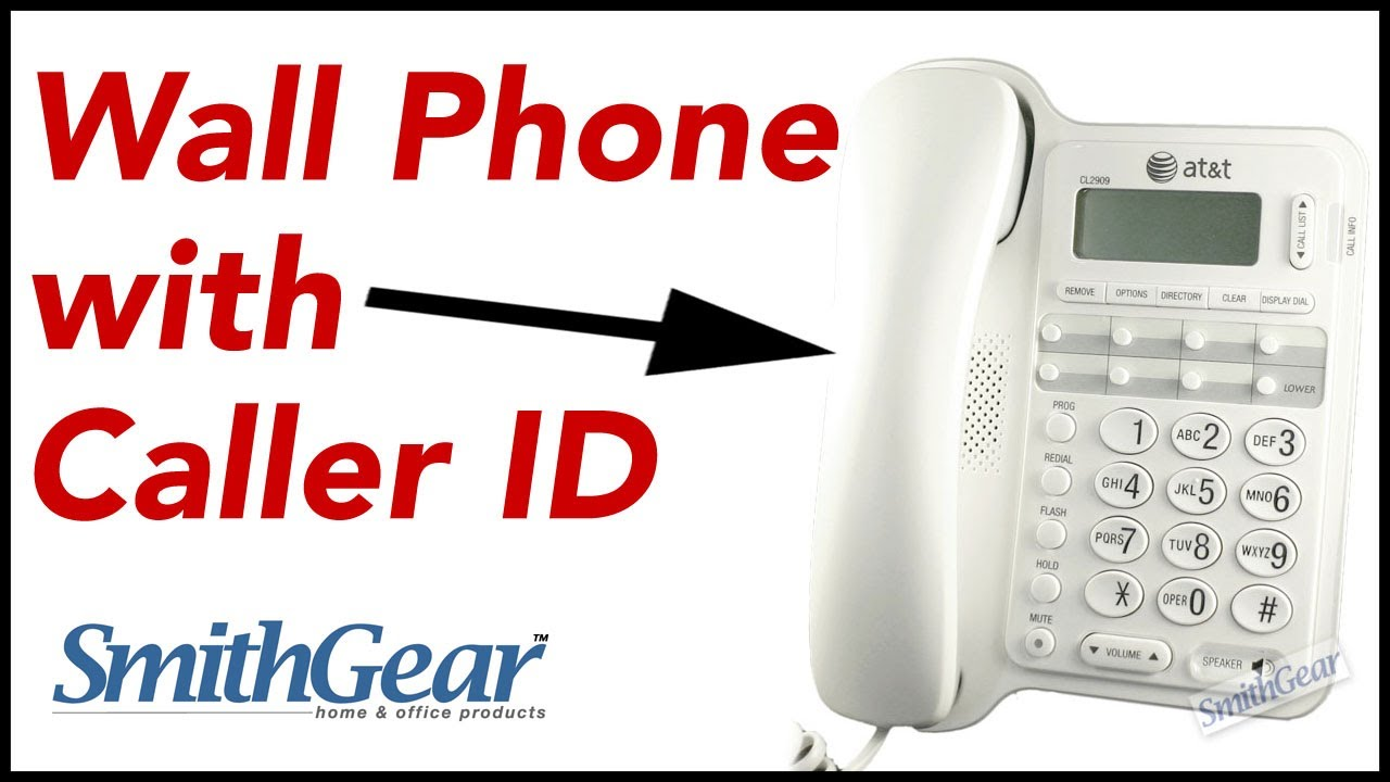 At Amp T Cl2909 Speakerphone Corded Telephone With Caller Id