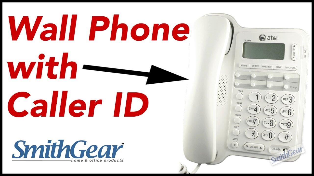 ATu0026T CL2909 Speakerphone /Corded Telephone With Caller ID/Call Waiting WHITE