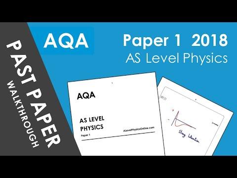 AQA (AS Level Physics) Paper 1 - 2018