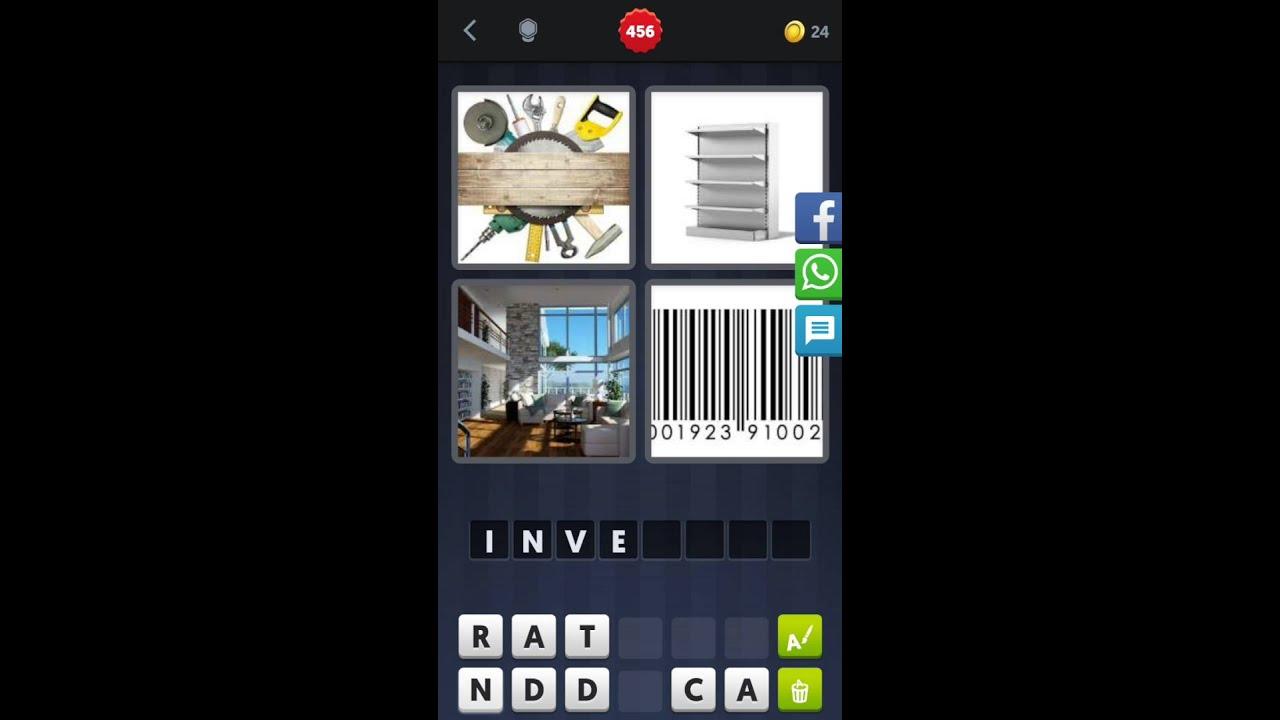 4 Bilder 1 Wort [Werkzeuge, Regal, Wohnzimmer, Barcode] - YouTube