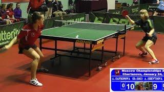 Александра САФРОНОВА - Алёна ШЕВЦОВА Настольный теннис, Table Tennis