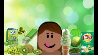 ROBLOX | I ONLY ATE GREEN FOODS FOR 24 HOURS IN BLOXBURG