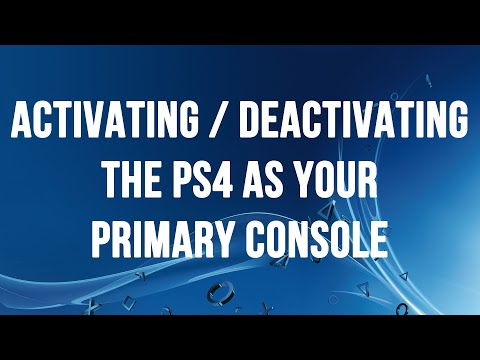 Activating and Deactivating the PS4 as a Primary Console