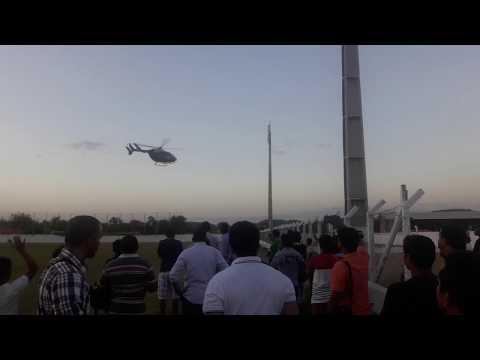 Helicóptero do governador Flávio Dino quase não levanta voo de Lago da Pedra