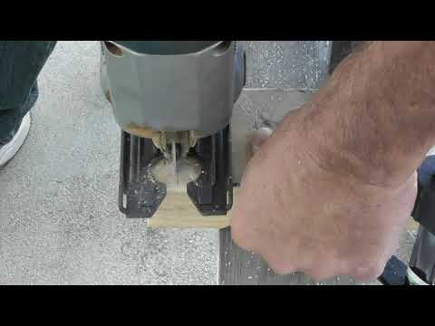Cutting Wood with a Reverse Cut JIGSAW Blade Jig Saw 10TPI lumber Harbor Freight Blade Review