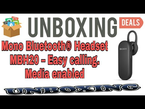 2472fe613fc Mono Bluetooth Headset MBH20 – Easy calling. Media enabled Unboxing and  Reviews