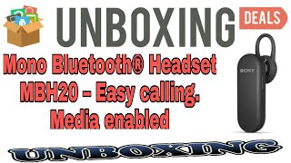Mono Bluetooth Headset MBH20 – Easy calling. Media enabled Unboxing and Reviews