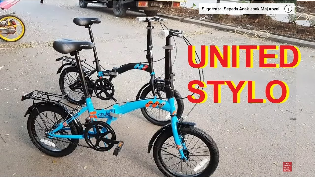 Sepeda Lipat United Stylo 16 inch ⭐⭐⭐⭐⭐ - YouTube