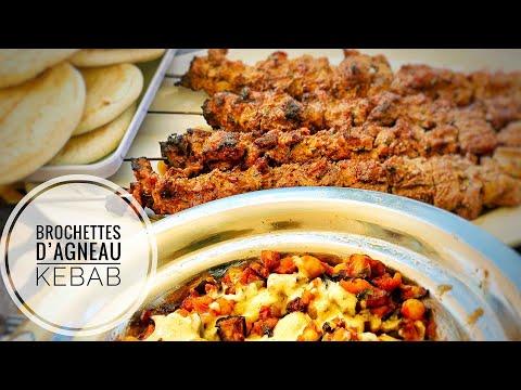 brochettes-d'agneau-marinées-façon-kebab-et-salade-d'aubergines