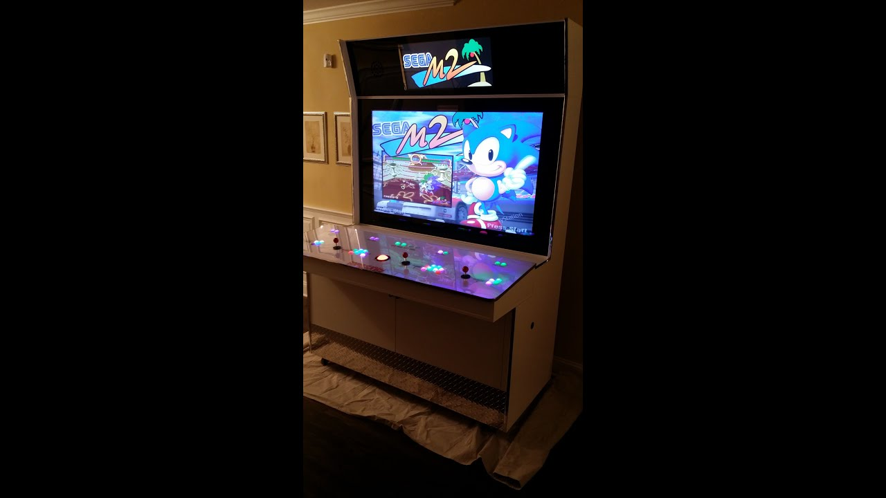 Gamejunky Custom Arcade Cabinet - YouTube