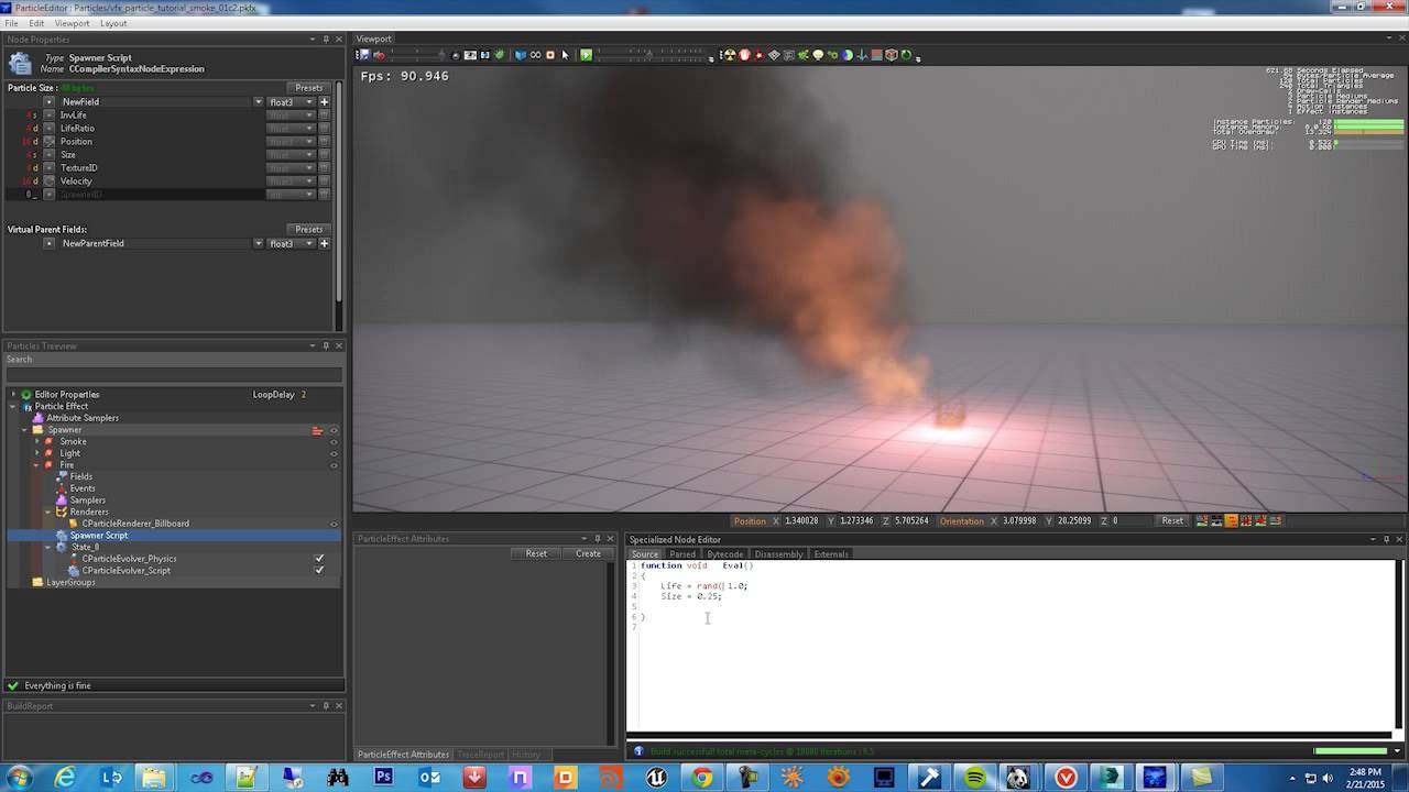 PopcornFX User Tutorial : Smoke & Fire Effect (part 2) - Martin LaLand  Romero