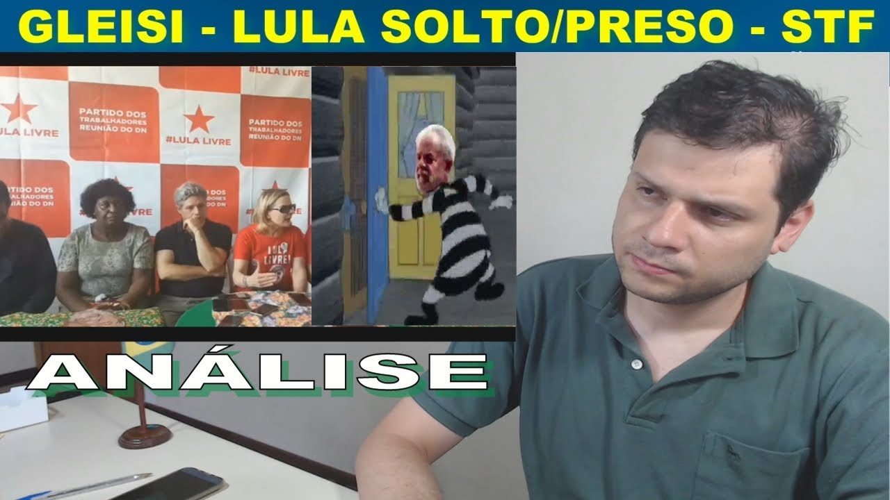 O discurso de Gleisi Hoffmann (A louca) Lula preso e o STF