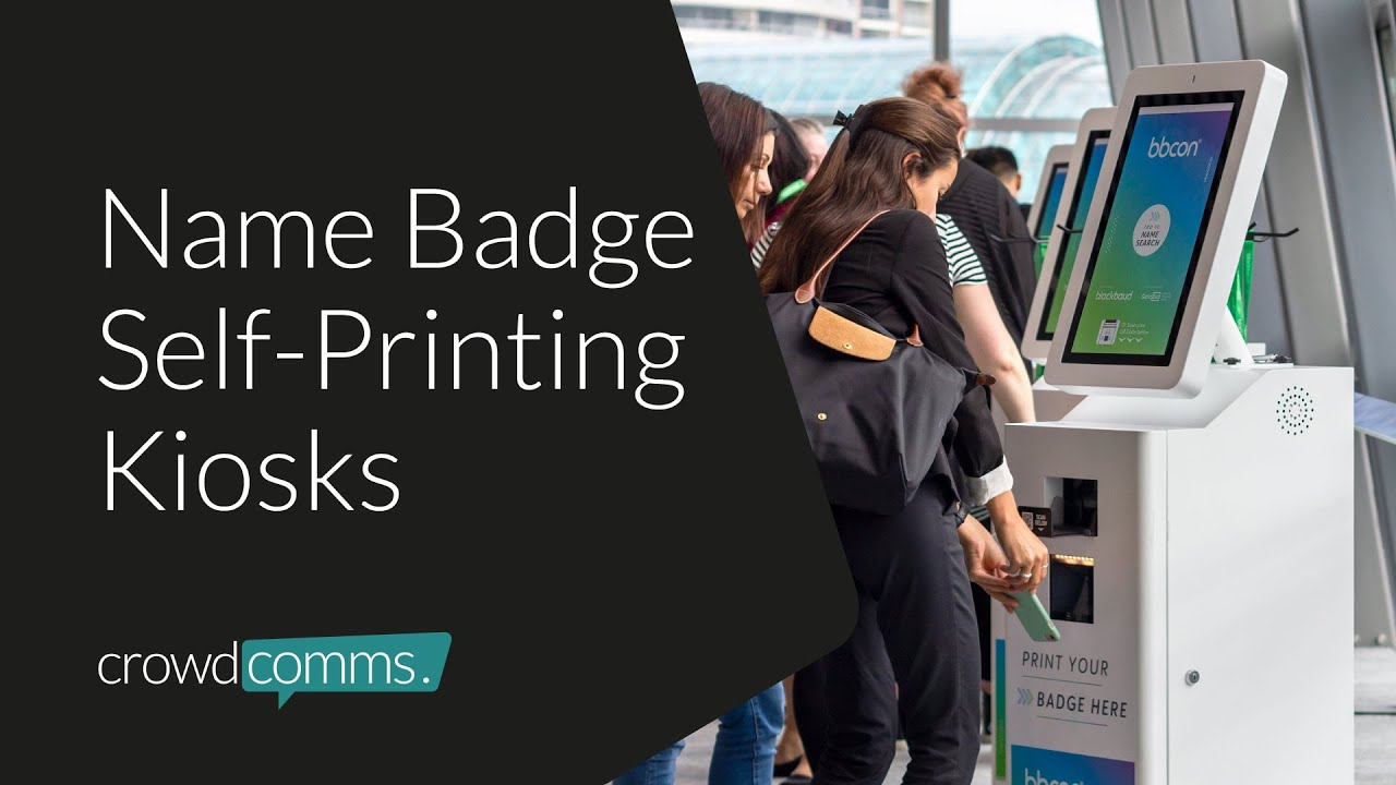 Pronto! Name Badge Kiosks, Self-Printing Name Badges