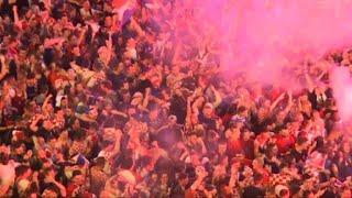 A Zagreb, la liesse après l'égalisation contre l'Angleterre