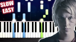 Tom Odell - Another Love - SLOW EASY Piano Tutorial by PlutaX