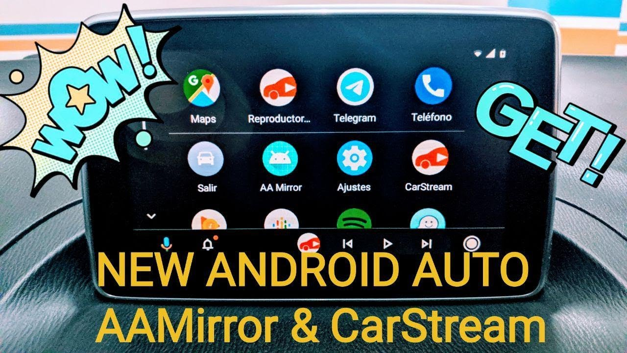 🌟NEW ANDROID AUTO 🚗 AAMirror ✙ CarStream 📲