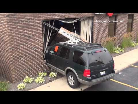 SUV Crash into BMO Harris Bank Building Arlington Heights -- No Injuries