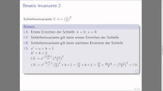 Schleifeninvarianten