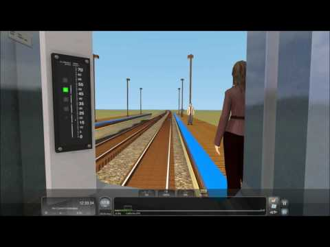 """TS2017 HD: Operating CTA Chicago """"L"""" 3200 Series Blue Line Train (Full Round Trip) Time-lapse 4x"""
