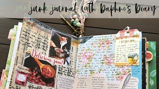 DAPHNE'S DIARY JOURNALING | Junk Journal with me S1:E7 | Journaling Process with Magazine