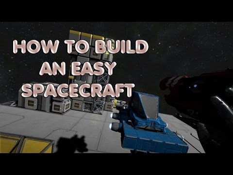How to make an easy Space Craft on Space Enginers Game – A flying saucer embryo TUTORIAL